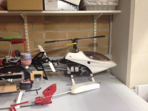 Helicopter style flying robot at ACFR, Photo: Market Clarity