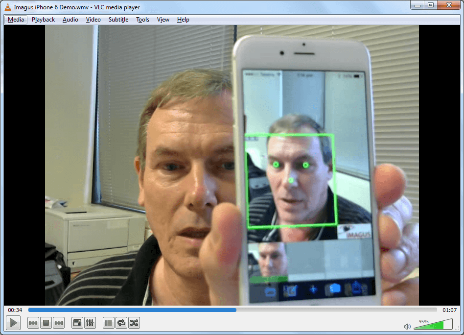 Live video face recognition from iPhone