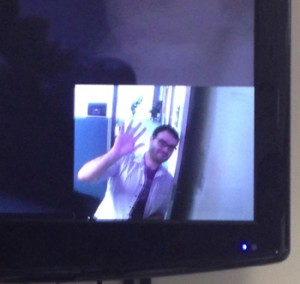 Dan Friedman — TV programming pauses while the webcam display is active